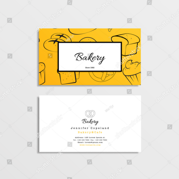 Restaurant name card templates designs psd ai