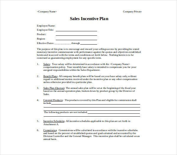 basic sales compensation plan