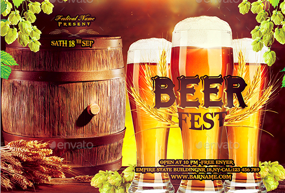 Beer Fest Flyer Design