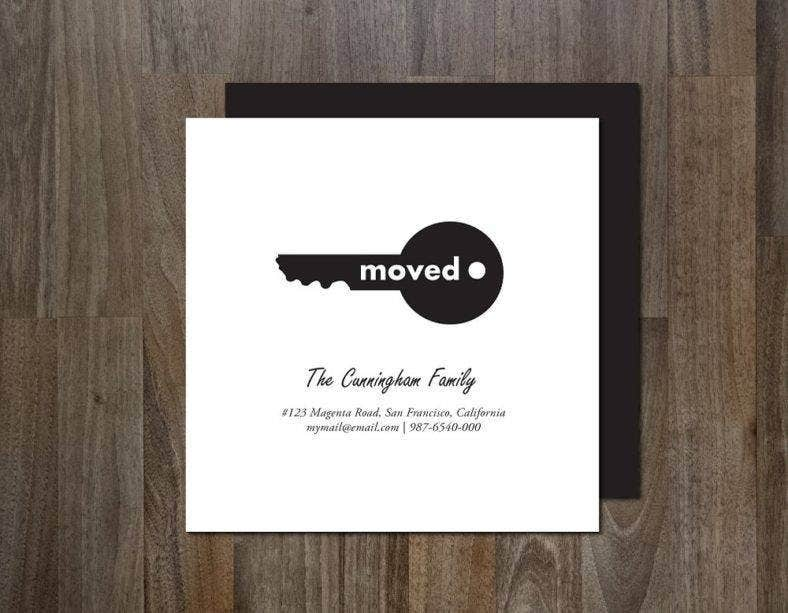 Black & White Moving Announcement Card