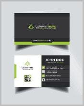 black-and-green-business-card