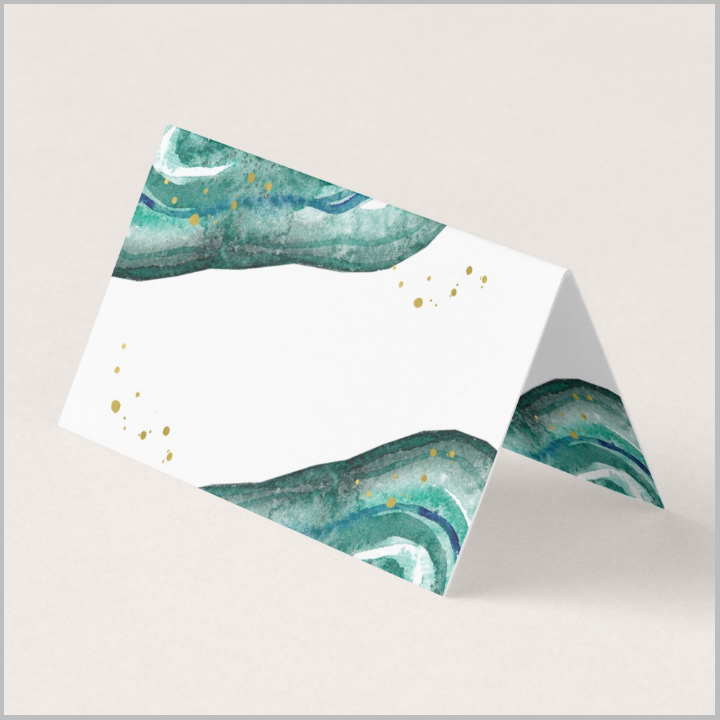 blank-teal-and-gold-wedding-name-place-card-template