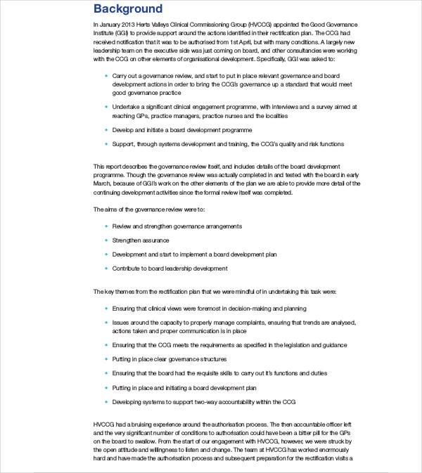 board development review plan