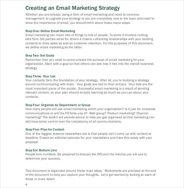 building email marketing strategy