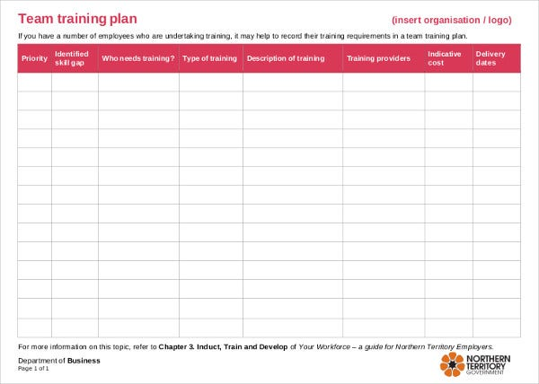 building training plan