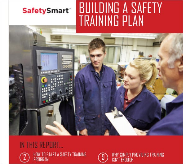 building a safety training plan