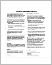 business-management-policy-template