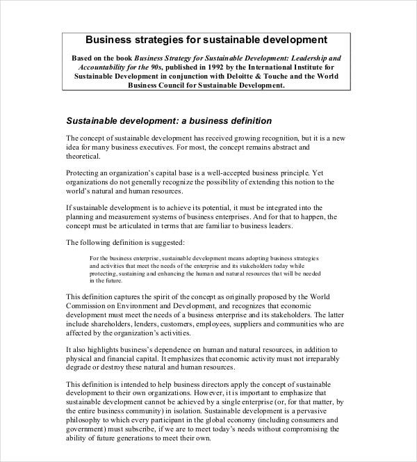 business strategies development plan