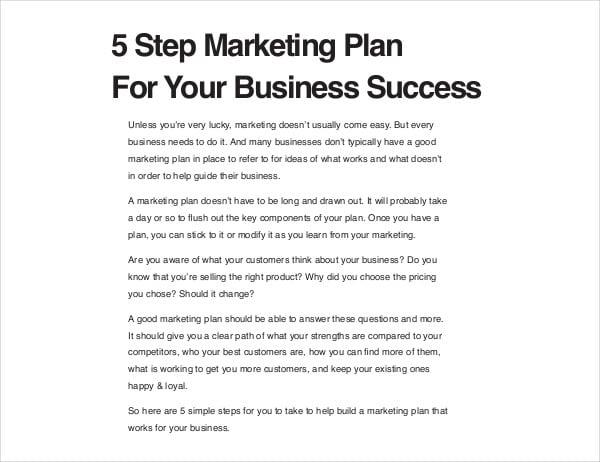 business success affiliate marketing proposal