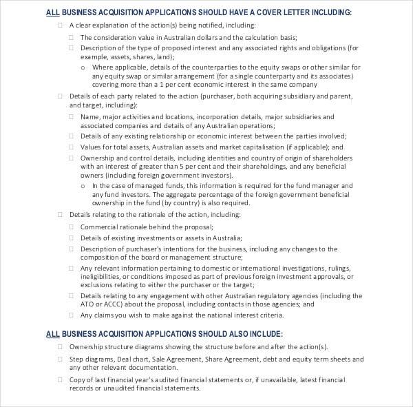 business proposal checklist