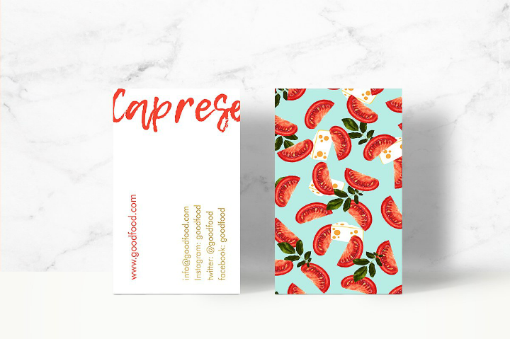 caprese-food-name-card-template