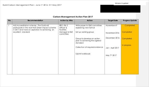 carbon management action plan