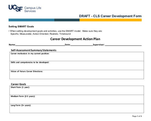 career development action plan