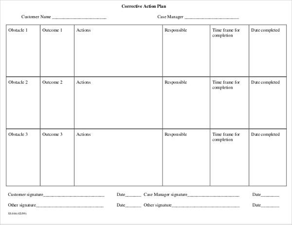 case management action plan