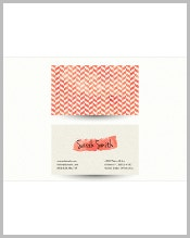 chevron-business-card-template