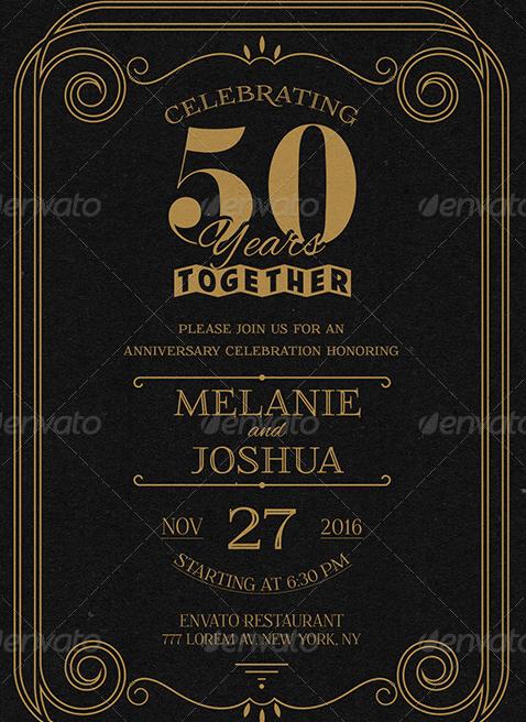 Classic Wedding Anniversary Card