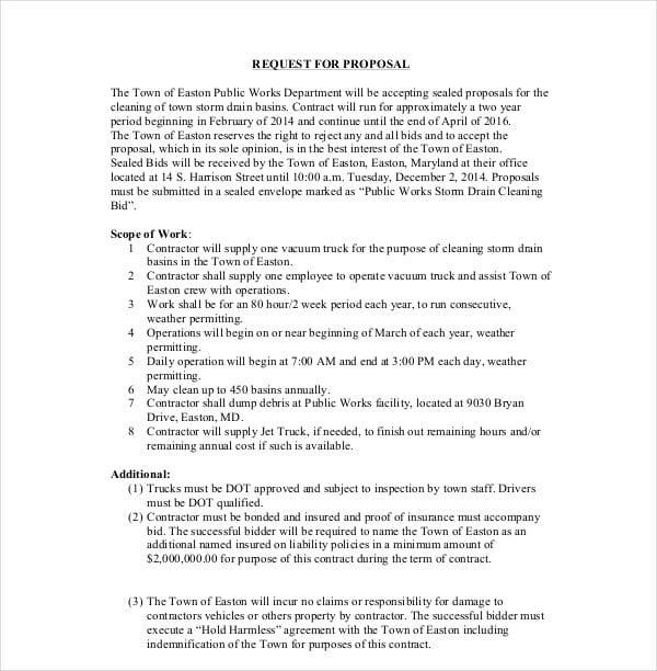 cleaning bid proposal