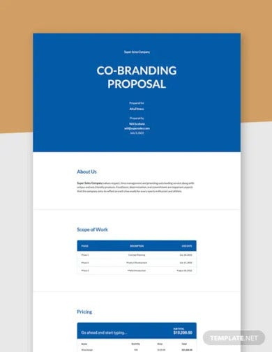 co branding proposal template