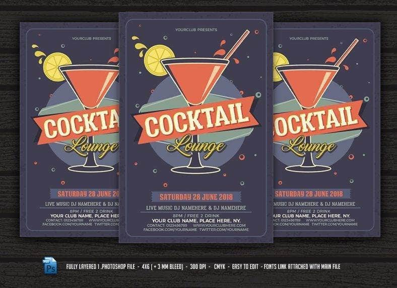 Cocktail Lounge Flyer