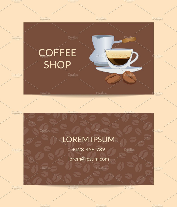 coffee-shop-vector-name-card-template