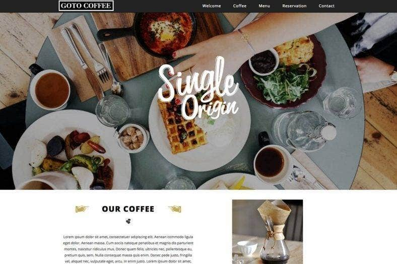 coffee website responsive template 788x524