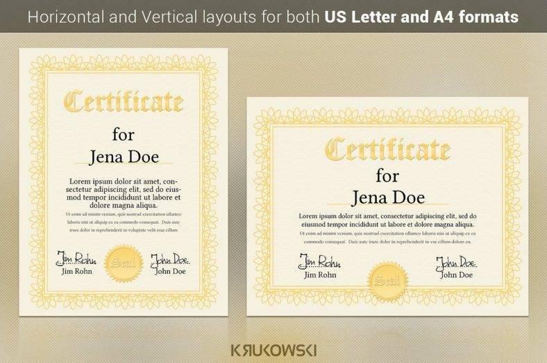 College Diploma Certificate Design