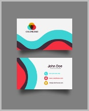 colorful-wave-business-card-design-free-vector