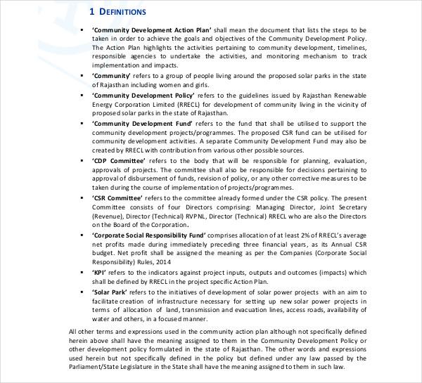 community development action plan