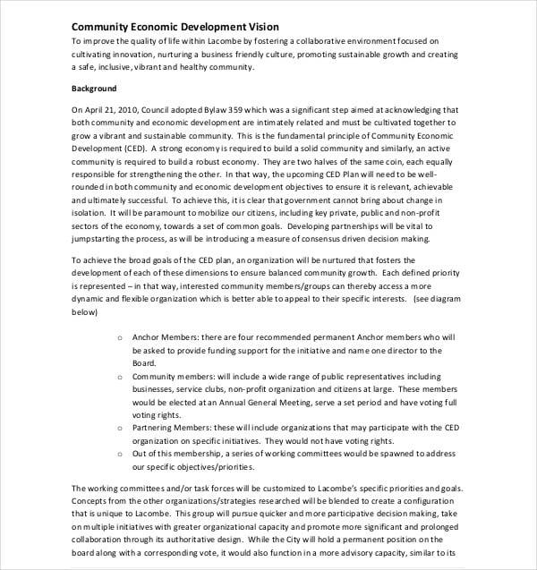 community economic development plan