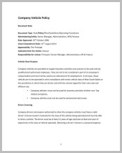 company-vehicle-policy-template
