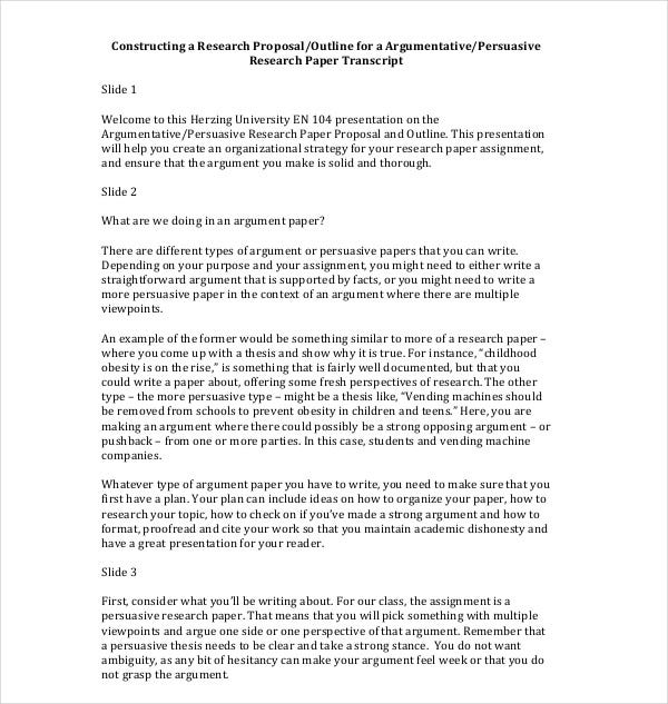 constructing a research proposal