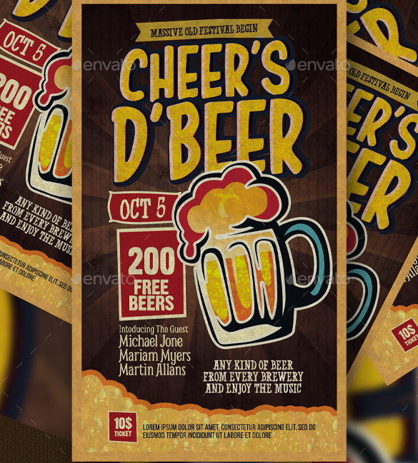 Creative Beer Flyer Design
