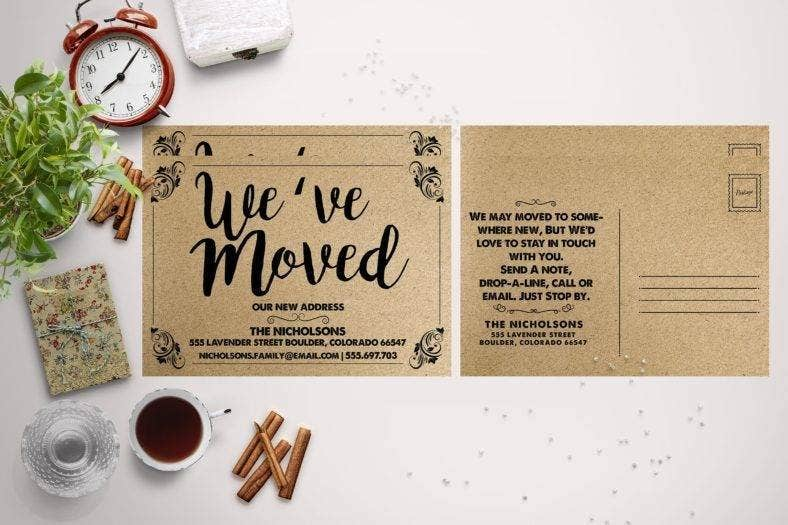 DIY Moving Announcement Card