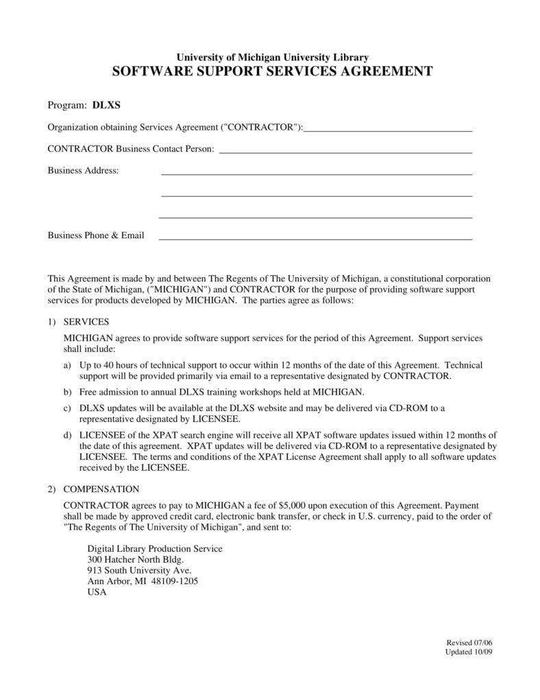 6 It Service Agreement Templates Pdf Free Premium Templates