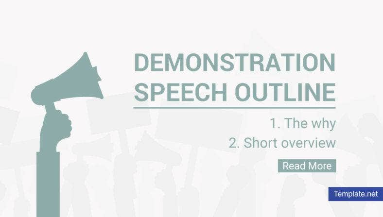 Demonstration Speech outline