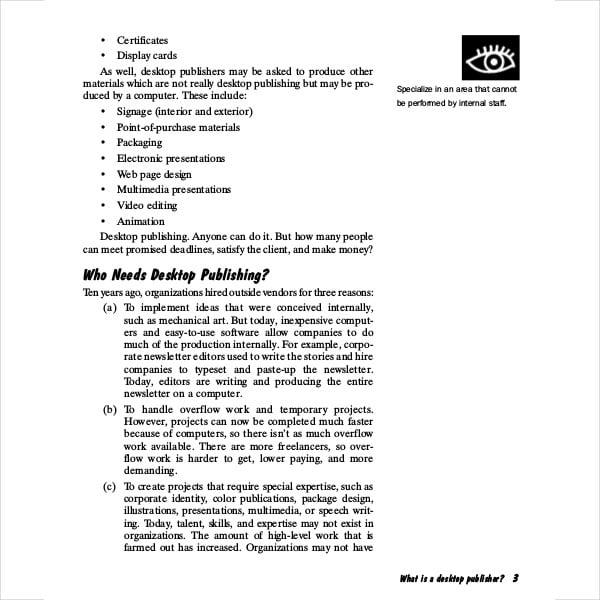 desktop publisher business plan