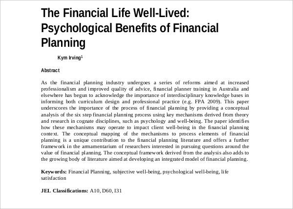disasters financial planning