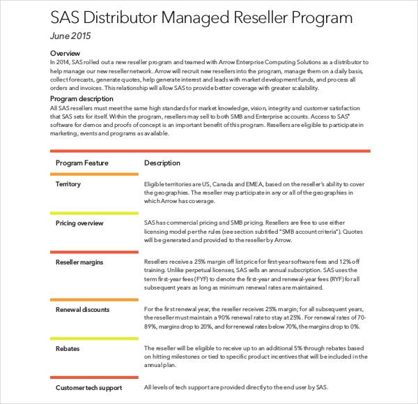 distributor managed reseller program