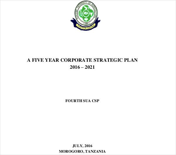 editable corporate strategic plan