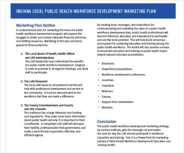 education training marketing plan