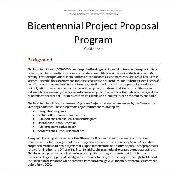 electronic student project proposal