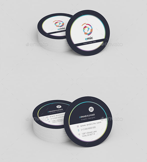 Elegant Circle Business Card