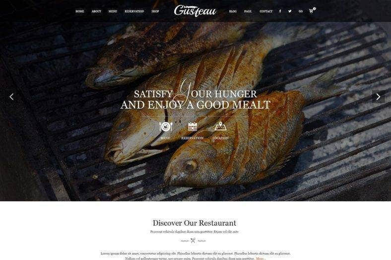 elegant food restaurant theme 788x524