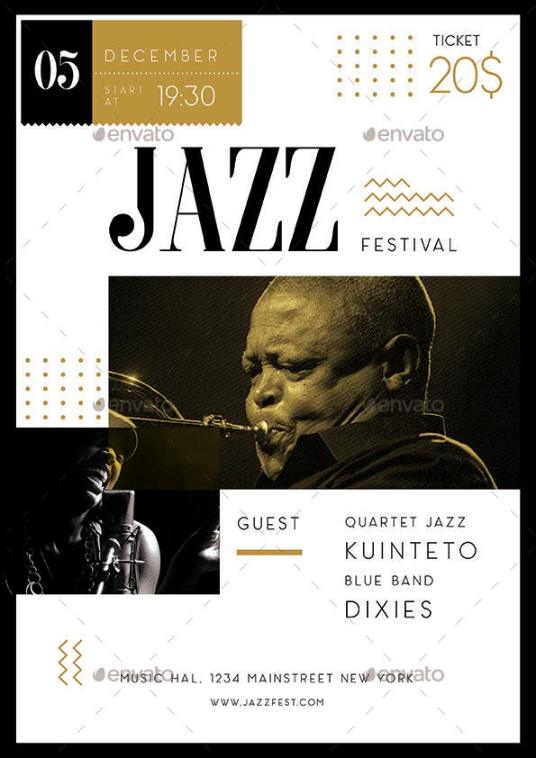 Elegant Jazz Flyer Design