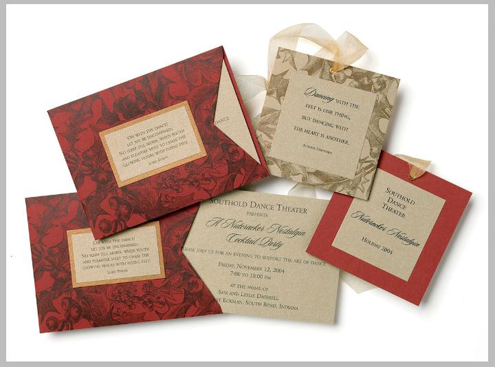 elegant red gala fundraising invitation card template
