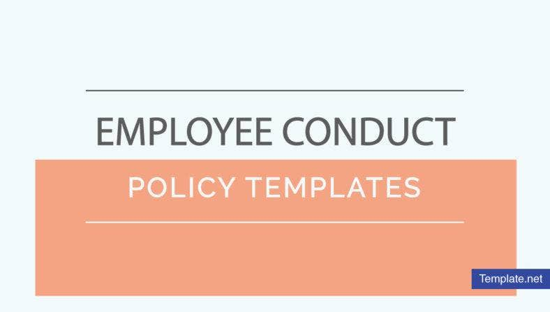 Employee Conduct Policy Templates