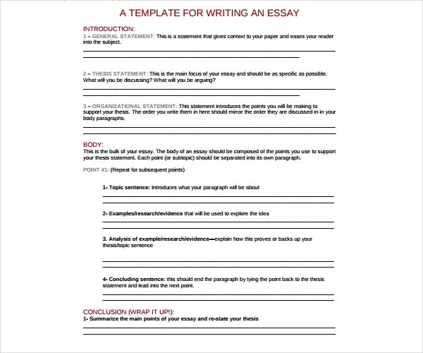 Bullying Essay Thesis  English Essay Ideas also English Essay Websites Thesis For Essay General Essay Outline Templates Pdf Free  How To Write A Good Essay For High School