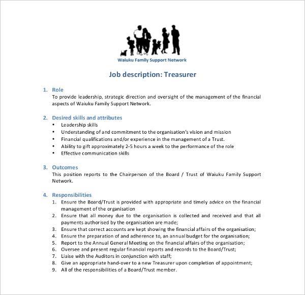 family treasure job description
