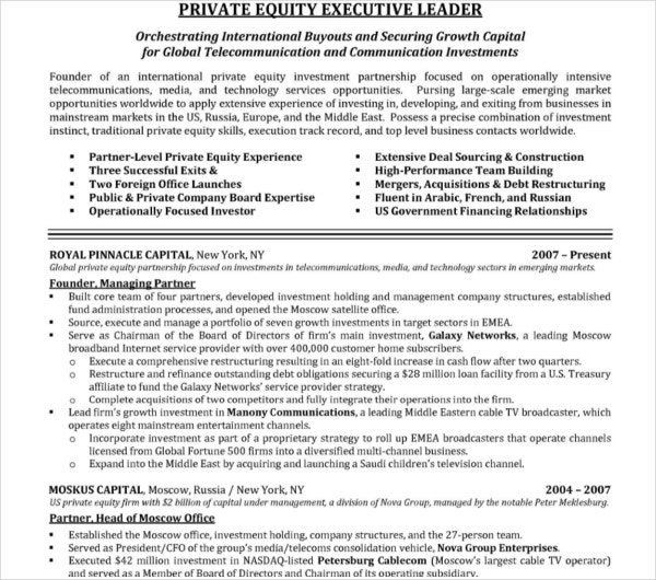 financial director executive resume