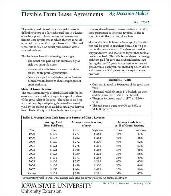 flexible farm lease agreements